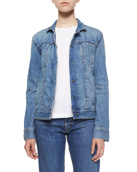 Helmut Lang Lightly Distressed Denim Jacket