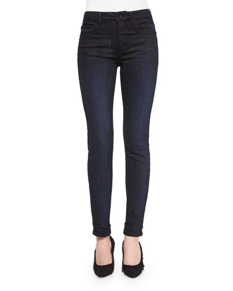 Helmut Lang Dirty Indigo-Wash Skinny-Leg Jeans