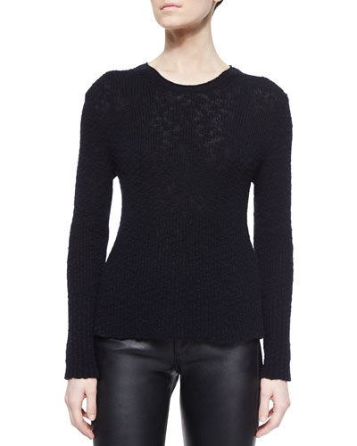 Cashmere Crewneck Sweater, Midnight