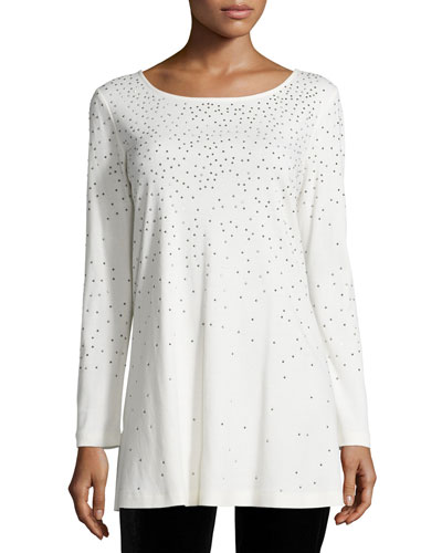 Long-Sleeve Sparkle Tunic