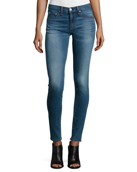 rag & bone/JEAN Mid-Rise Skinny Jeans, Clean Euston