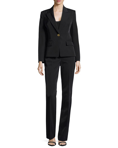Two-Piece Pantsuit, Black