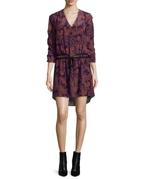 Benson Boho Floral Silk Mini Dress
