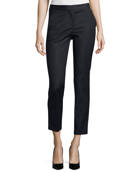 Versace Straight-Leg Cropped Trousers, Black