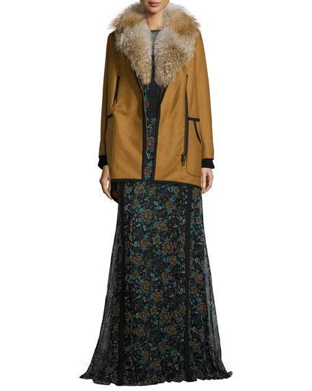 Keene Floral-Print Silk Maxi Dress