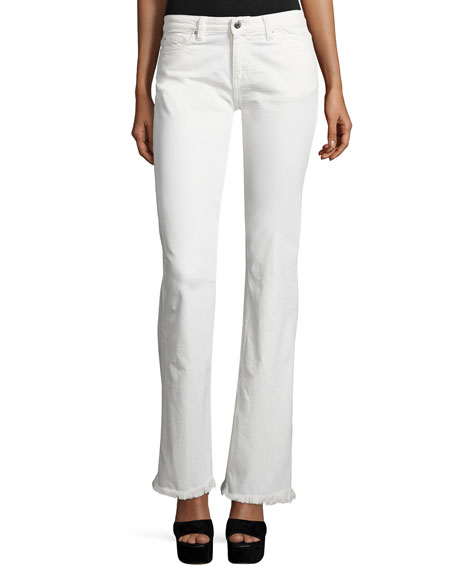 Iro Freddy Boot-Cut Jeans, Off White