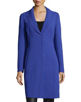 Annabelle Wool Seamed Coat, Cosmic