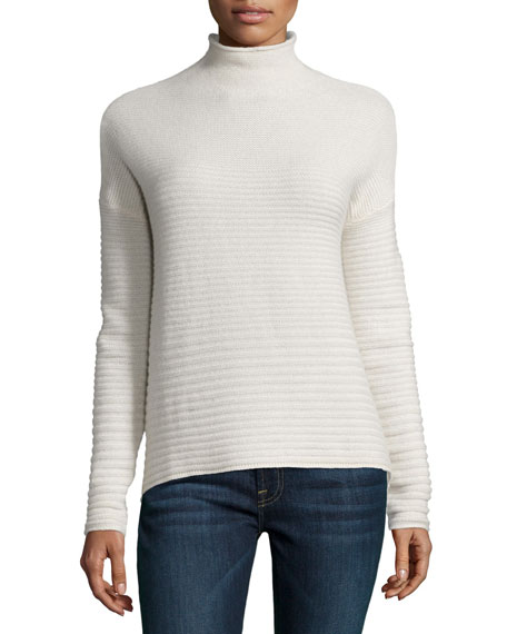 360Sweater Ribbed Cashmere Mock Turtleneck Sweater