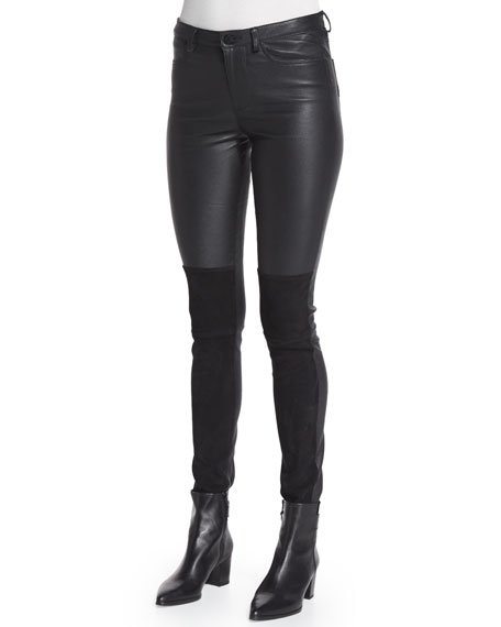 Pharly Leather Deluxe Pants, Noir