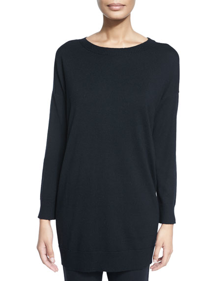 Eileen Fisher Merino Jersey Icon Tunic, Petite