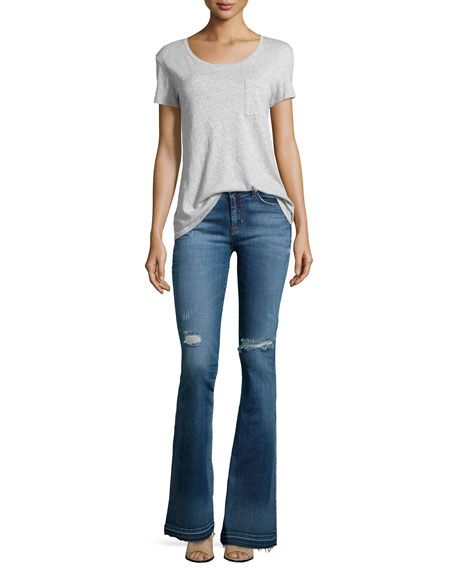 Hudson Mia Mid-Rise Flared Jeans, Beaudry
