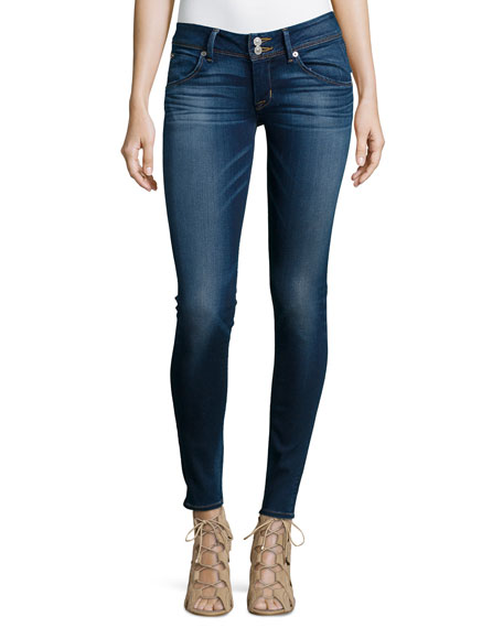 Hudson Collin Stretch Skinny Jeans, Blue Gold
