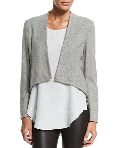 Cropped Jacket W/ Band Detail