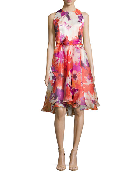 floral printed cocktail drss