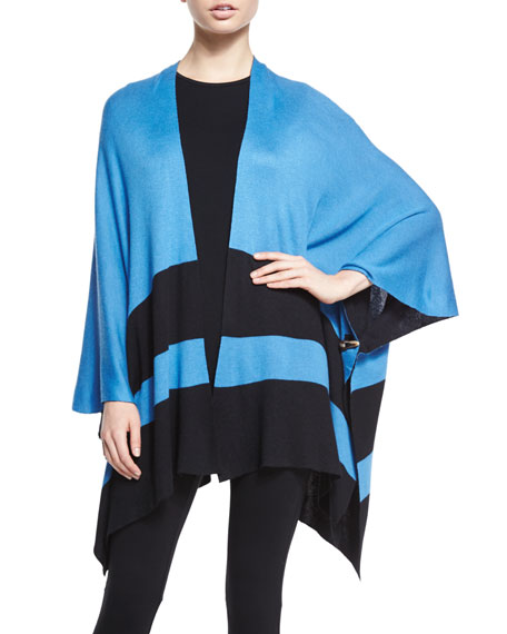 Belford Reversible Striped Poncho