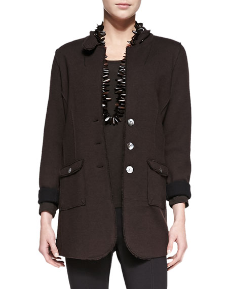 Eileen Fisher Felted Merino Long Jacket, Petite