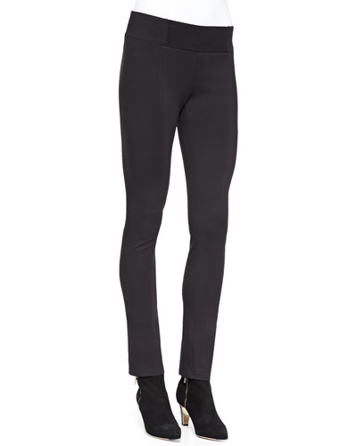 Rayon Knit Skinny Pants, Coffee, Women's