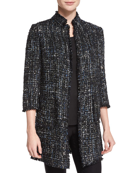 Neiman Marcus Sequined Boucle Topper