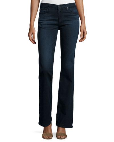 Angel Boot-Cut Jeans, Black Sand