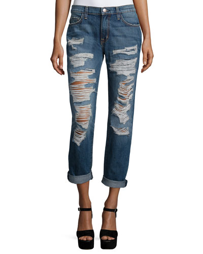 The Fling Relaxed-Fit Rolled-Cuff Jeans, Westward Destroy