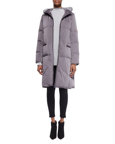 Lorna Down Coat W/ Mink Fur Trim