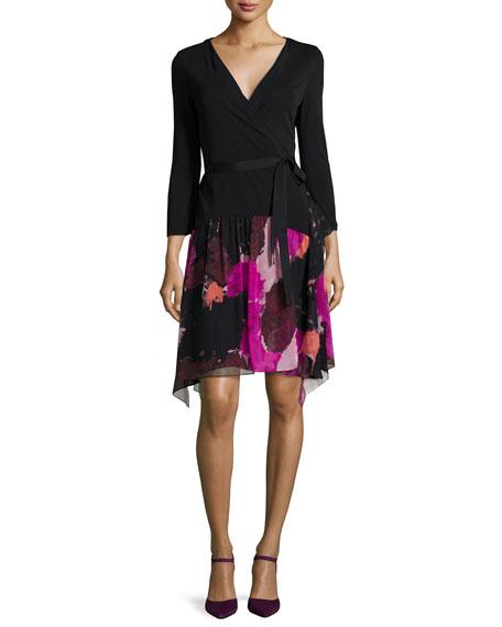 Diane von FurstenbergRivieria 3/4-Sleeve Printed Chiffon Wrap