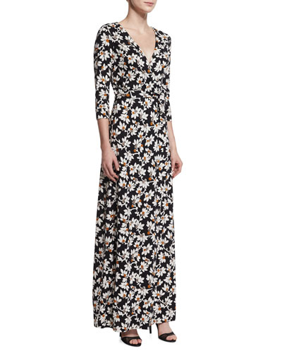 New Julian Two Floral-Print Maxi Wrap Dress