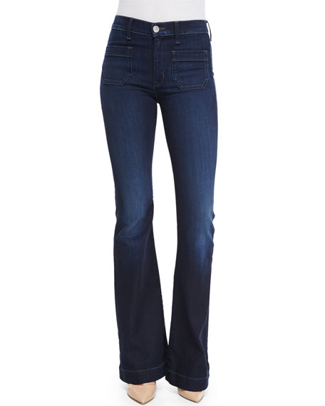 Taylor High-Rise Flare-Leg Jeans, Rogue Waves