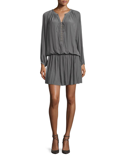 Alexandra 3/4-Sleeve Dress, Smokey Gray