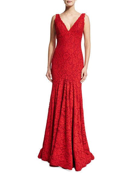 Jovani Sleeveless Fitted Lace Gown