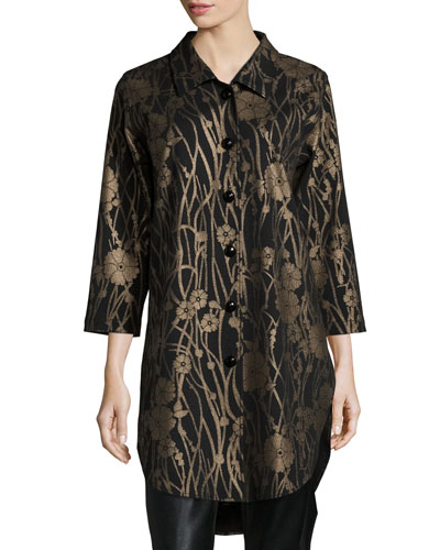 Deco Flower Long Tunic, Women's