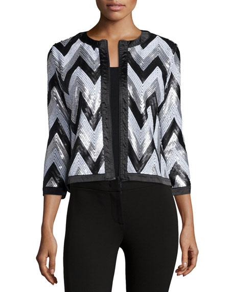Zigzag-Sequined Jacket