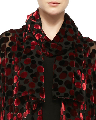Dancing Dot Burnout Scarf