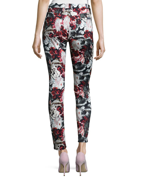Mid-Rise Skinny Contour Jeans, Gallery Floral