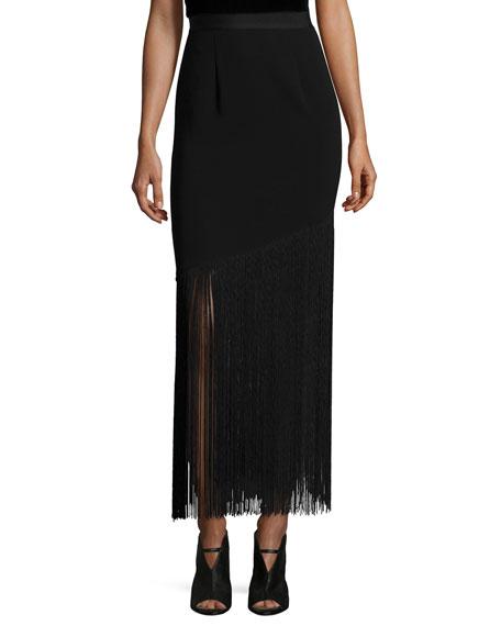 Sachin & Babi Noir Adams Fringed Midi Skirt