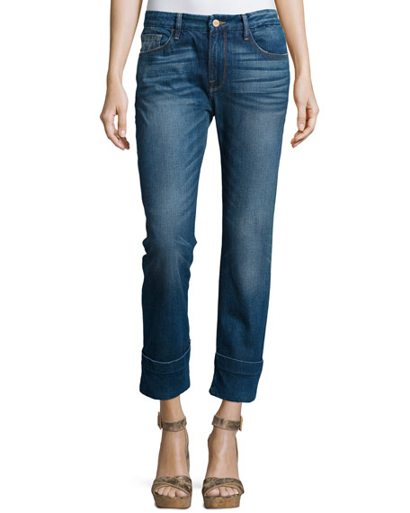 FRAME DENIMLe Grand Garcon Cropped Trouser Jeans, Novello
