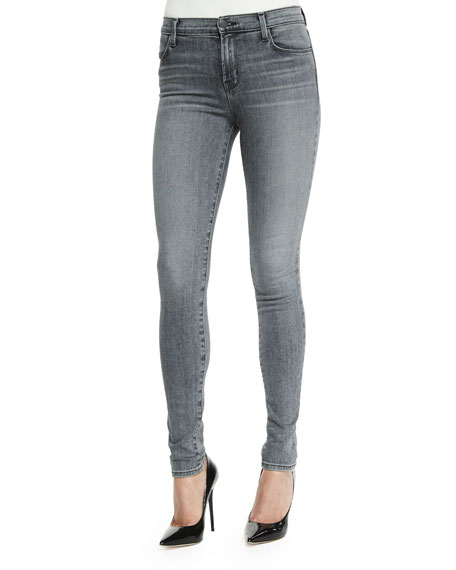 J Brand Jeans Maria High-Waist Skinny Jeans, Dove