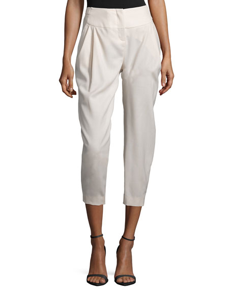 Halston Heritage Pleated-Front Cropped Pants, Atmosphere