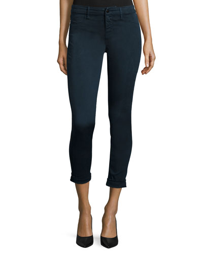 Anja Mid-Rise Ankle Jeans, Slate