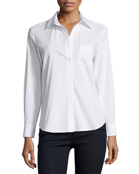 Finley Alex Button Front Blouse, White