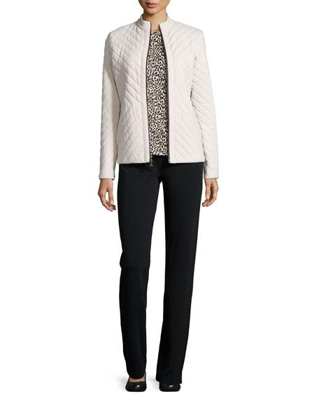 Neiman Marcus Quilted Jacket, Tee & Pants Set
