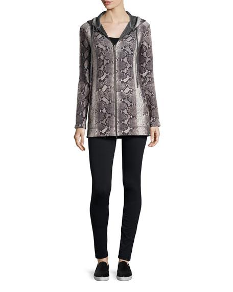 Neiman Marcus Plush Python-Print Jacket & Legging Set
