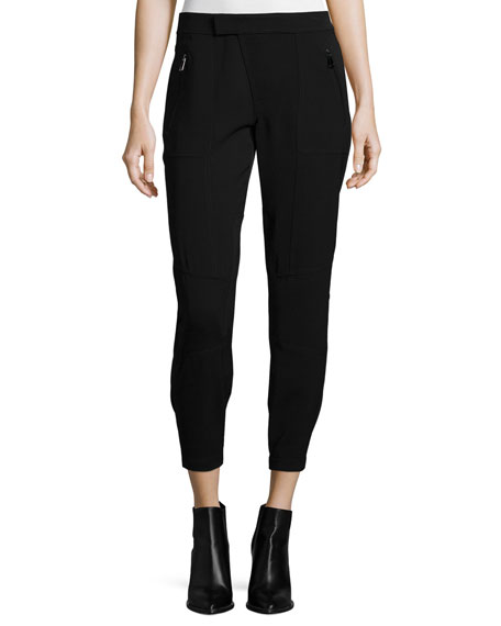 Vince Patchwork Cargo Trousers, Black