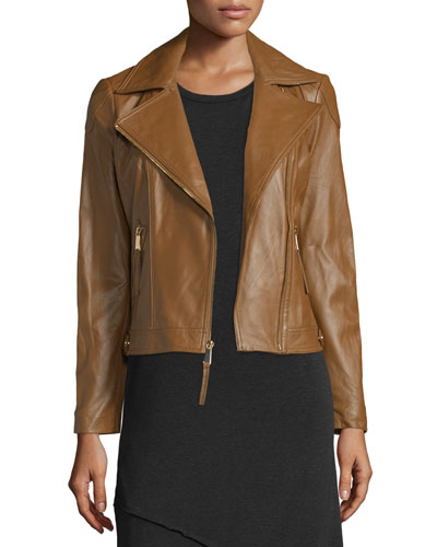 Lambskin Moto Leather Jacket