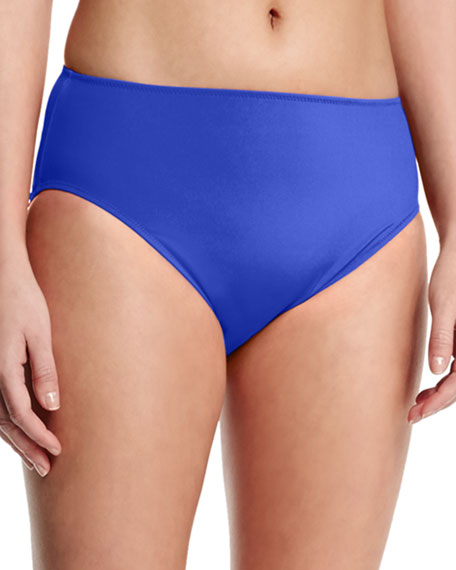 High-Waist Bikini Swim Bottom, Plus Size