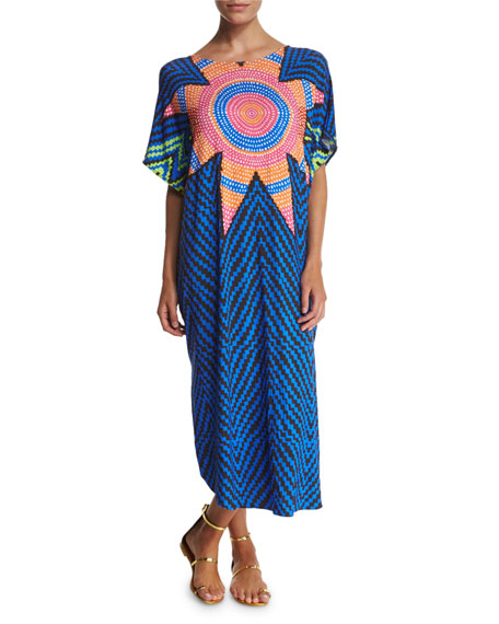 Mara Hoffman Starbasket Printed Caftan Coverup Dress