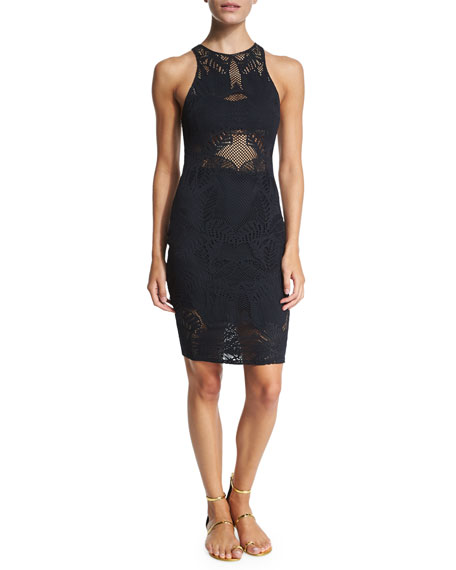 Mara HoffmanFloral-Lace Jacquard Midi Dress