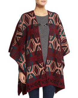Reversible Warhol Cape, Multi Colors