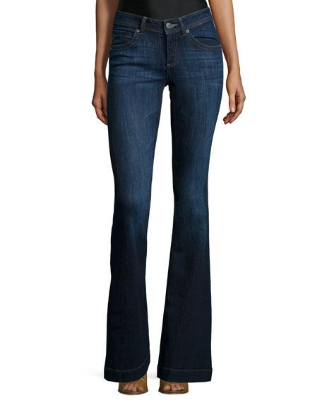 DL 1961 Premium Denim Joy Flare-Leg Jeans, Pulse