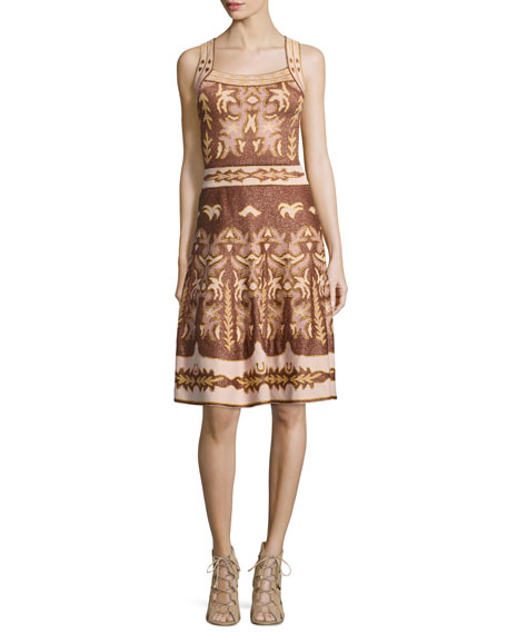 Lurex® Embroidered Jacquard Dress